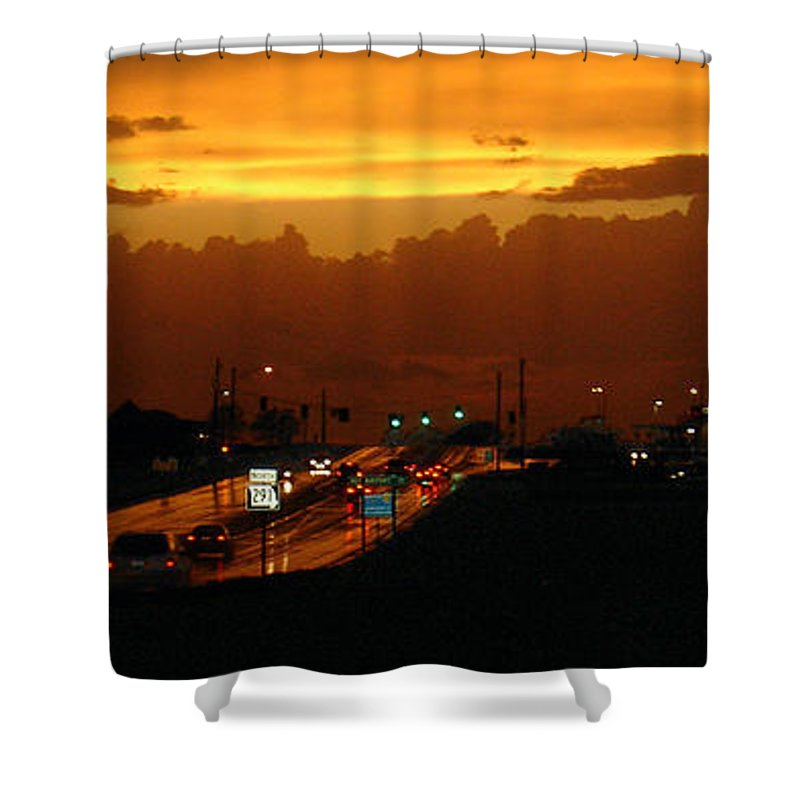 Landscape Shower Curtain featuring the photograph Missouri 291 by Steve Karol