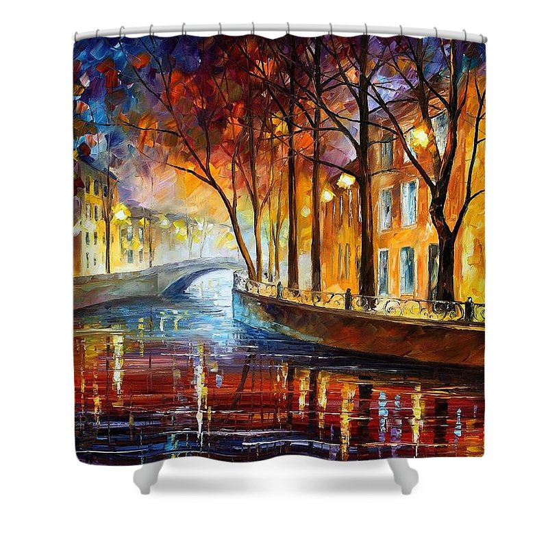 Afremov Shower Curtain featuring the painting Misty Melody by Leonid Afremov