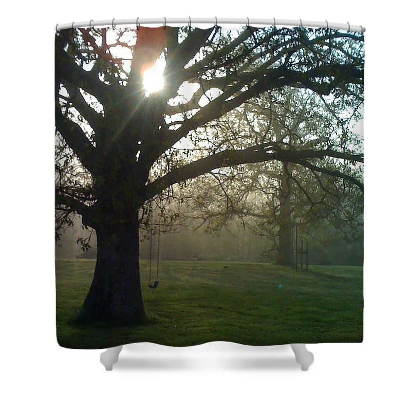 Mist Shower Curtain featuring the photograph Misty Morning by Nadine Rippelmeyer