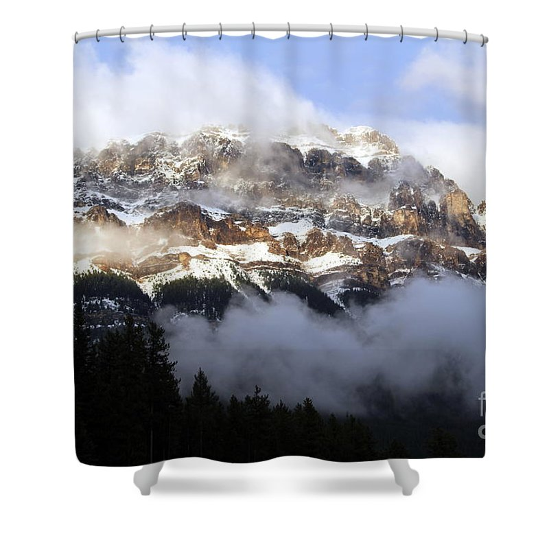 Landscape Shower Curtain featuring the photograph Misty Mountain by Maria Pogoda