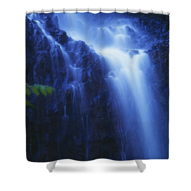Beautiful Shower Curtain featuring the photograph Misty Waterfall by Bill Brennan - Printscapes