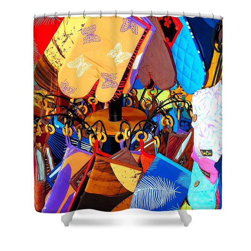 Mitts Shower Curtain featuring the photograph Mitts by Ian MacDonald