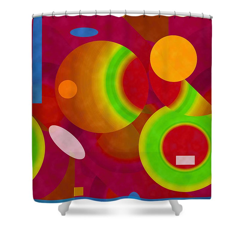 ruth Palmer Shower Curtain featuring the digital art Mix And Match by Ruth Palmer