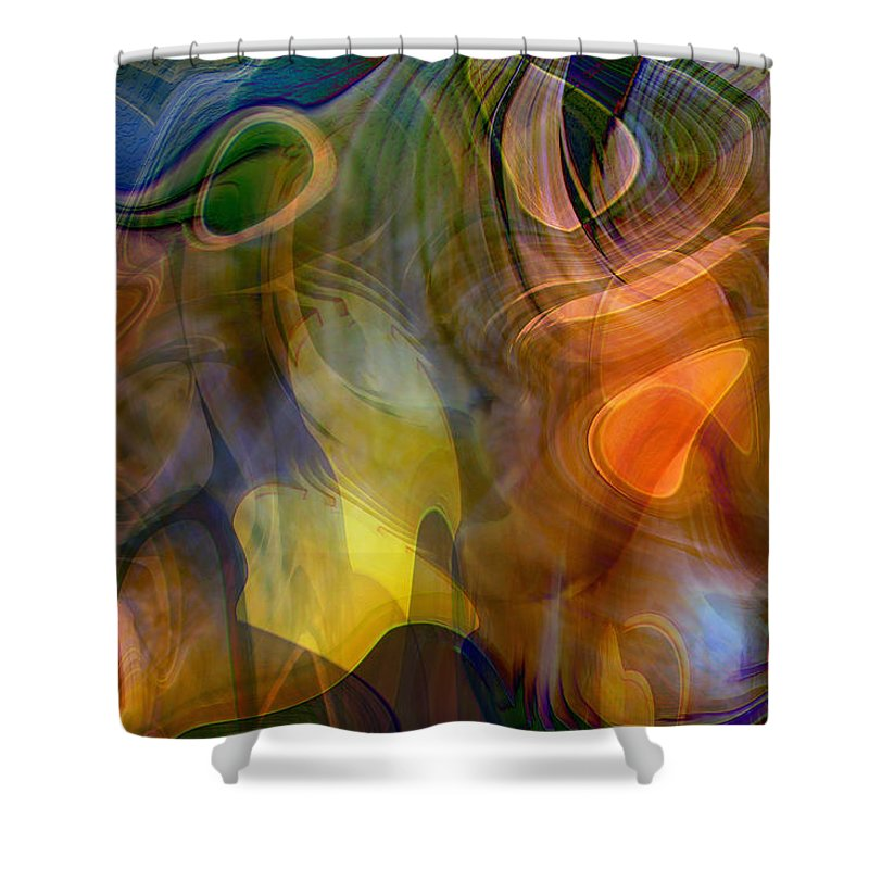 Mixed Emotions Shower Curtain featuring the digital art Mixed Emotions by Linda Sannuti