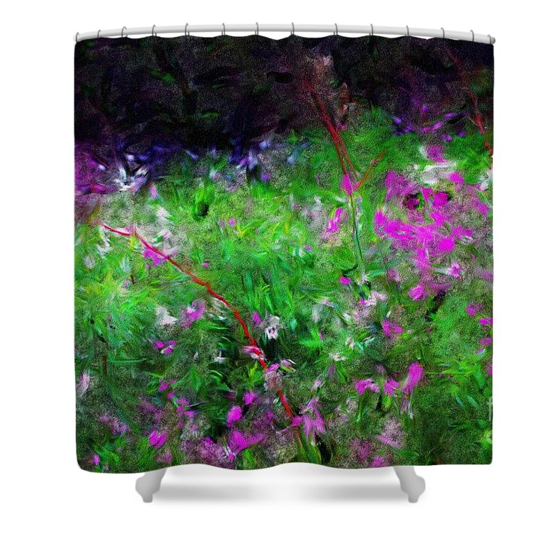 Digital Photograph Shower Curtain featuring the photograph Mixed Up by David Lane