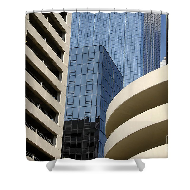 Modern Shower Curtain featuring the photograph Modern Architecture by David Lee Thompson