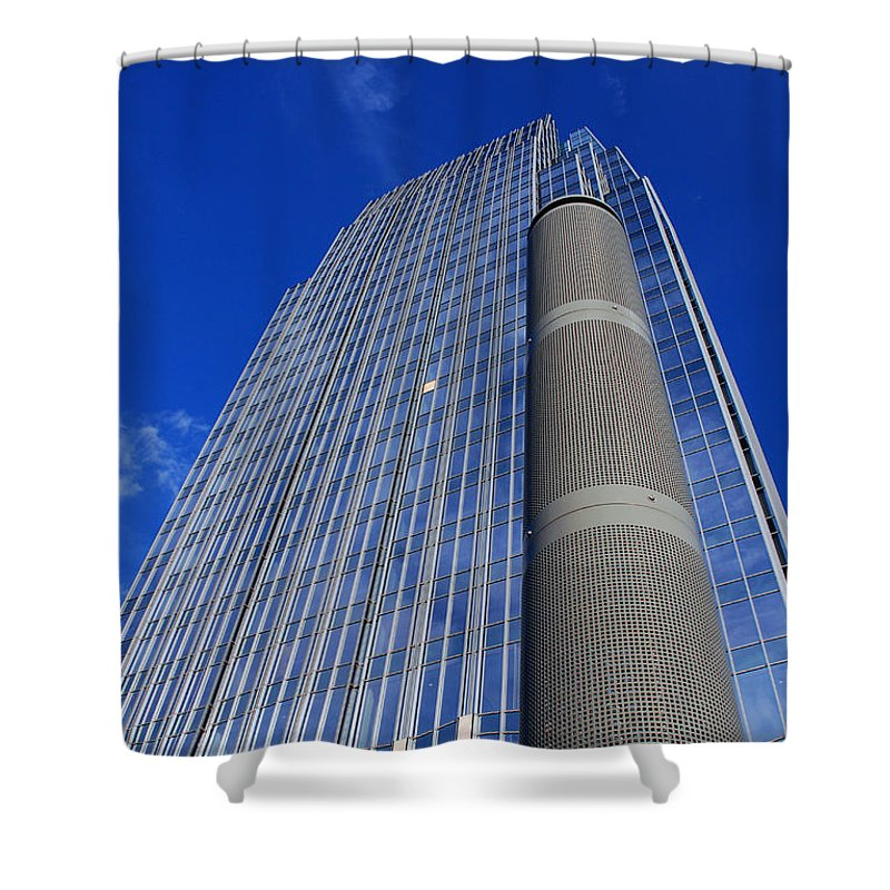 Glass Building Shower Curtain featuring the photograph Modern Architecture II by Susanne Van Hulst