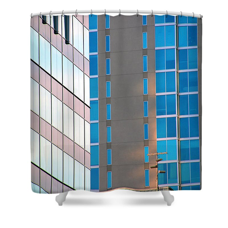 Architecture Photography Shower Curtain featuring the photograph Modern Architecture Photography by Susanne Van Hulst