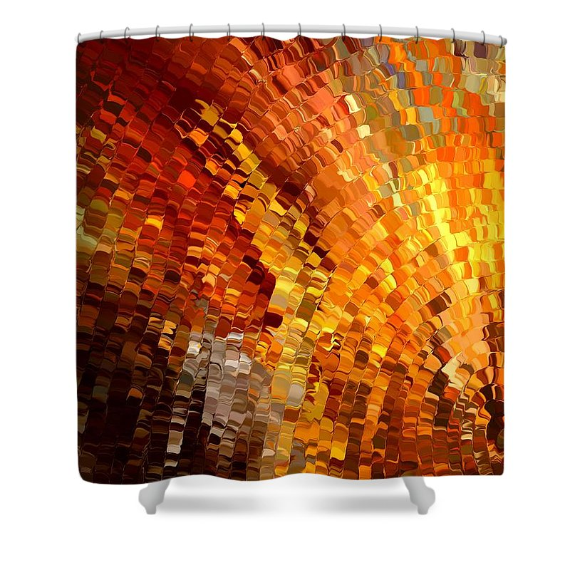 Contemporary Shower Curtain featuring the painting Modern Composition 33 by Rafi Talby