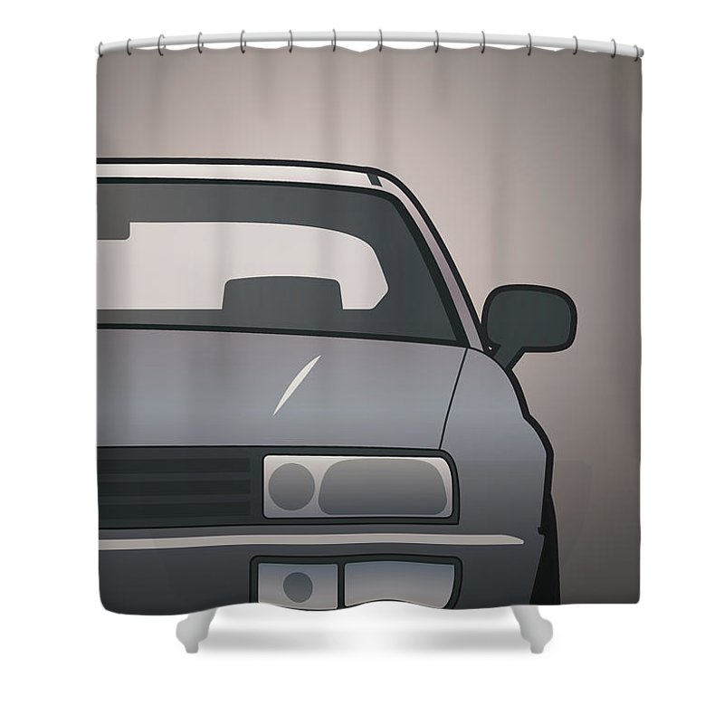 Car Shower Curtain featuring the digital art Modern Euro Icons Series Vw Corrado Vr6 by Monkey Crisis On Mars