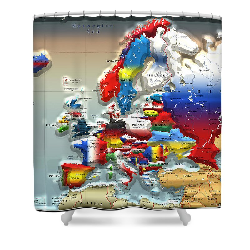 Map Shower Curtains