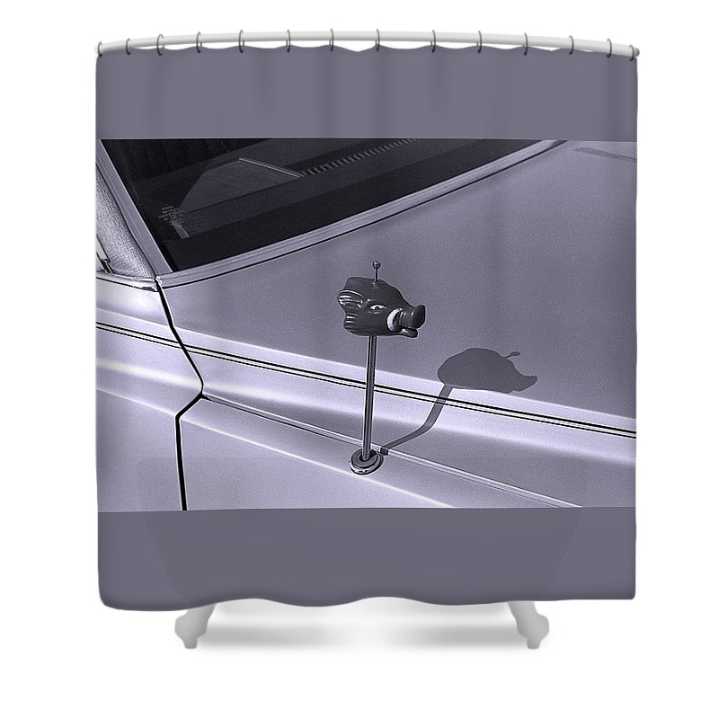 Primitive Shower Curtain featuring the photograph Modern Primitive by Ted M Tubbs