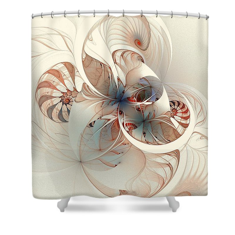 Shower Curtain featuring the digital art Mollusca by Amanda Moore