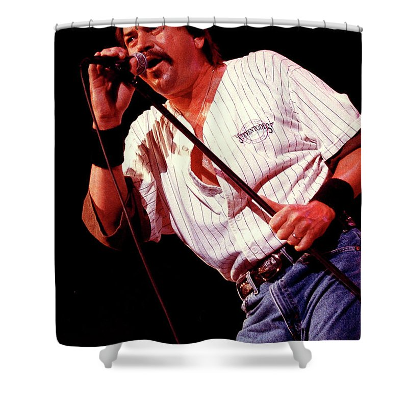 Molly Hatchet Shower Curtain featuring the photograph Molly Hatchet-93-danny-3700 by Gary Gingrich Galleries