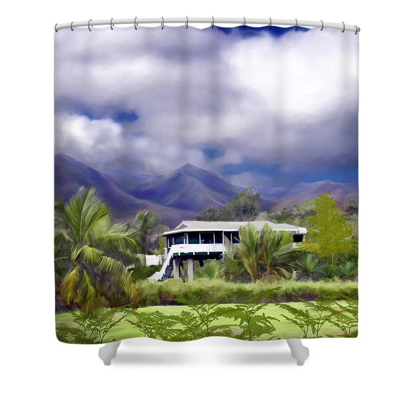 Hawaii Shower Curtain featuring the photograph Moloa A Bay Hideaway by Kurt Van Wagner