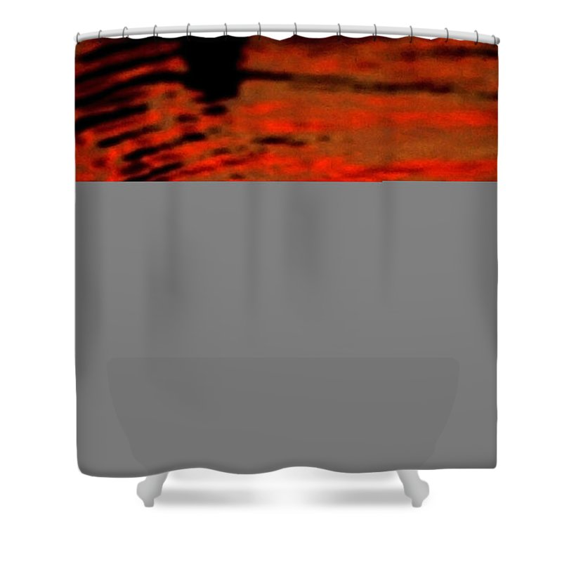 Water Shower Curtain featuring the photograph Molten Lava by Donna Blackhall