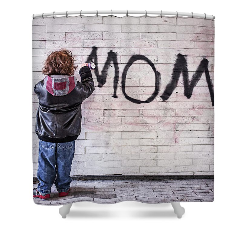 Mom Shower Curtain featuring the photograph Mom by Billy Soden