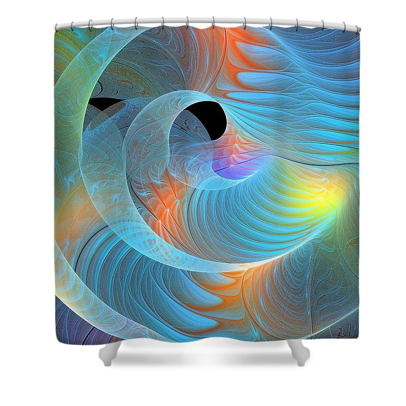 Digital Art Shower Curtain featuring the digital art Moment Of Elation by Amanda Moore
