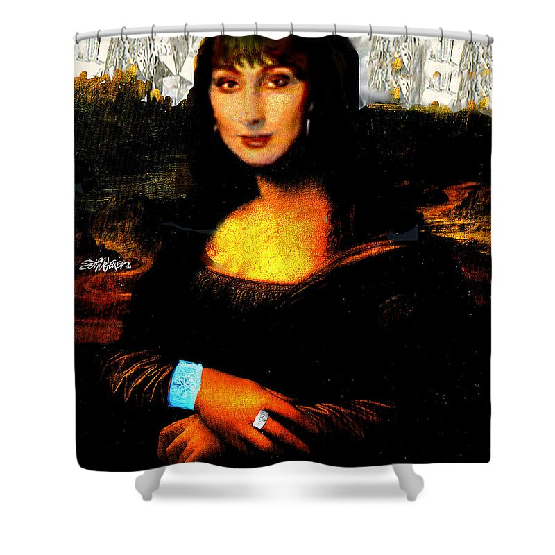 Mona Cher Shower Curtain featuring the digital art Mona Cher by Seth Weaver