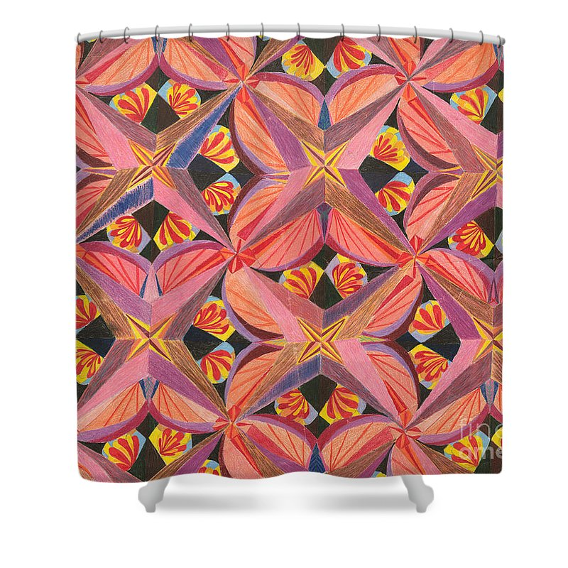 Butterfly Shower Curtain featuring the drawing Monarch by Kim Sy Ok