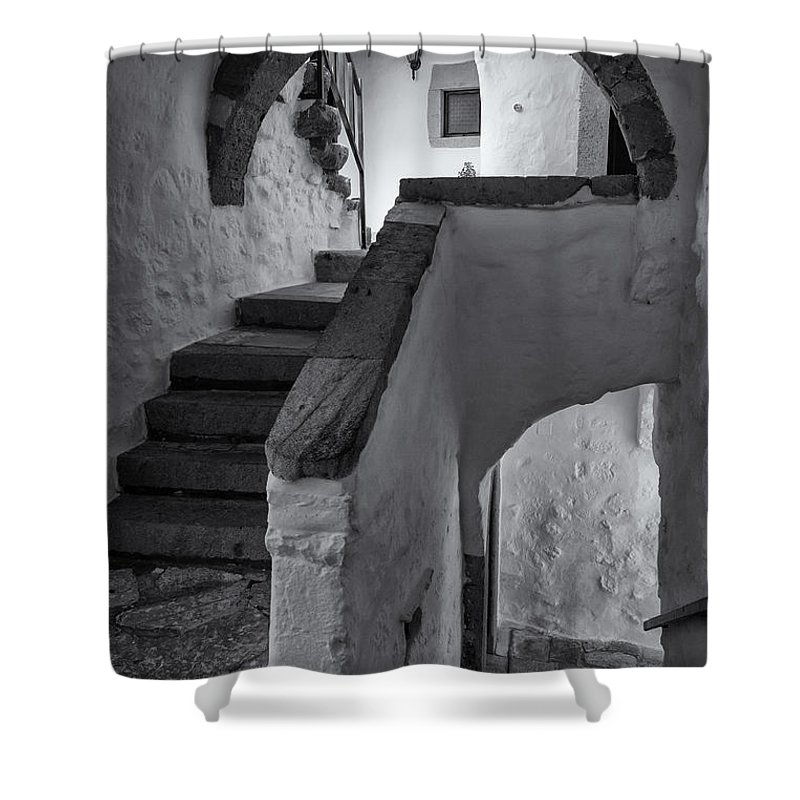 Aegean Sea Shower Curtain featuring the photograph Monastery Of Saint John The Theologian by Inge Johnsson