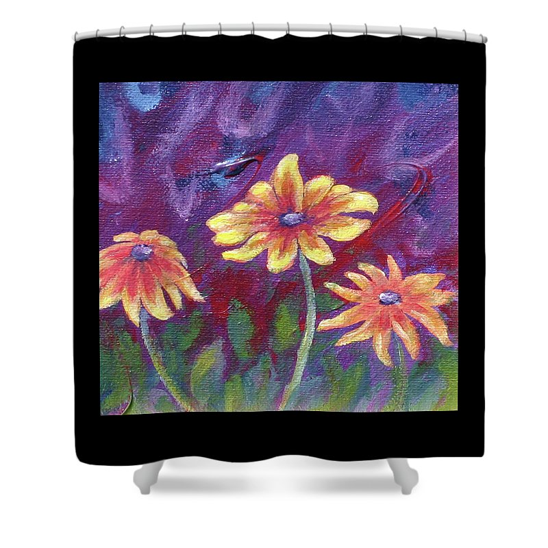 Small Acrylic Painting Shower Curtain featuring the painting Monet's Small Composition by Jennifer McDuffie