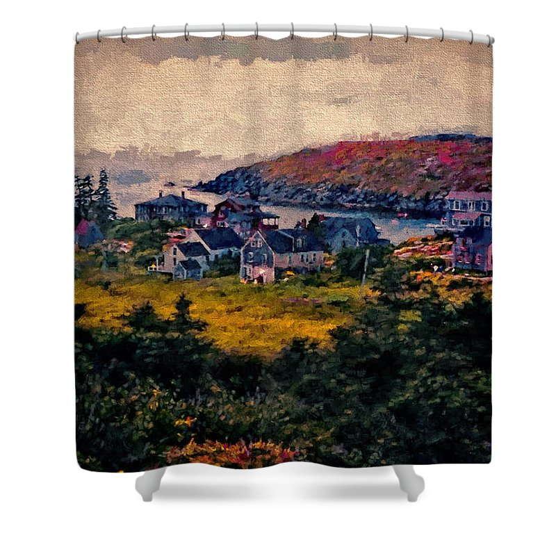 Monhegan Shower Curtain featuring the photograph Monhegan Island Maine by Gary Nelson