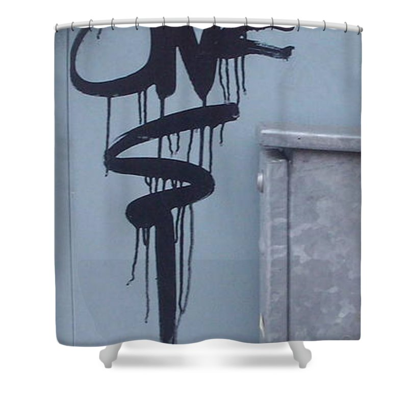 Urban Shower Curtain featuring the painting Monilith by Trevor Desrosiers