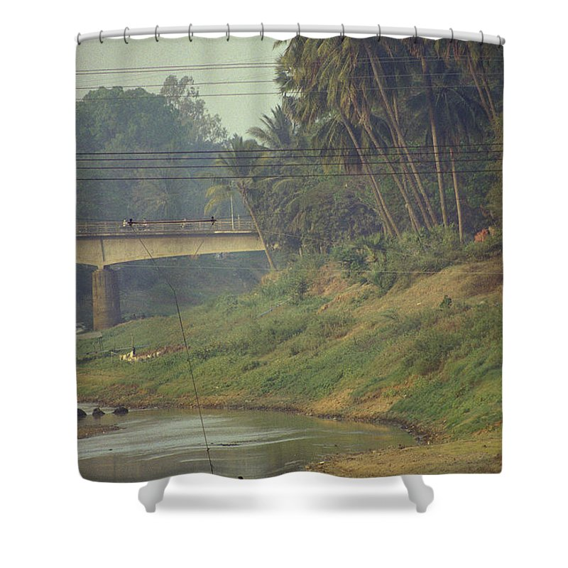 Monks Shower Curtain featuring the photograph Monks - Battambang by Patrick Klauss