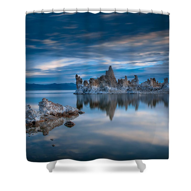Mono Lake Shower Curtain featuring the photograph Mono Lake Tufas by Ralph Vazquez