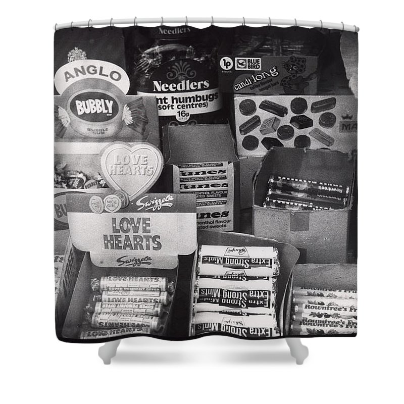 Candy Shower Curtain featuring the photograph Monochrome Candy by Charles Stuart