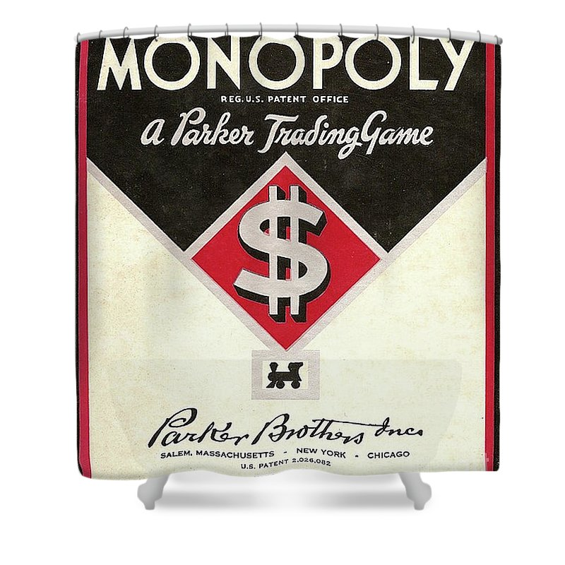 Game Shower Curtain featuring the photograph Monopoly by Steven Parker