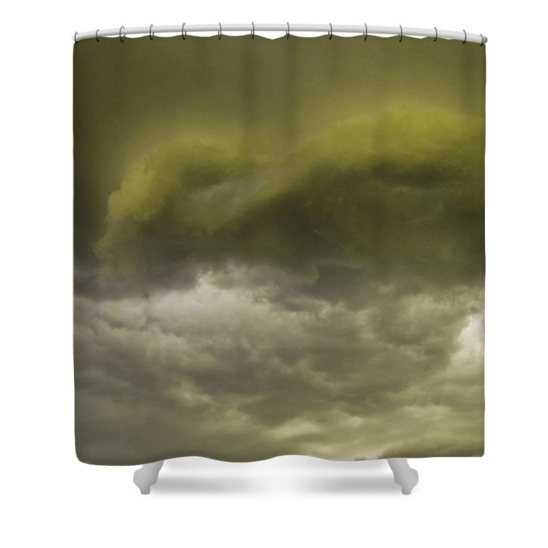 Sky Shower Curtain featuring the photograph Monsoon by Tracy Skinner