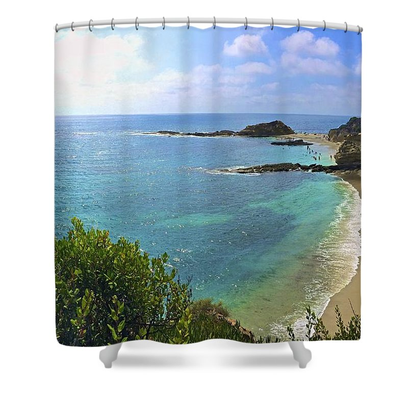 Wave Shower Curtain featuring the photograph Montage Beach, Laguna by Michael Cappelli