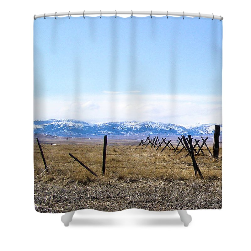 Montana Shower Curtain featuring the photograph Montana Scenery two by Susan Kinney