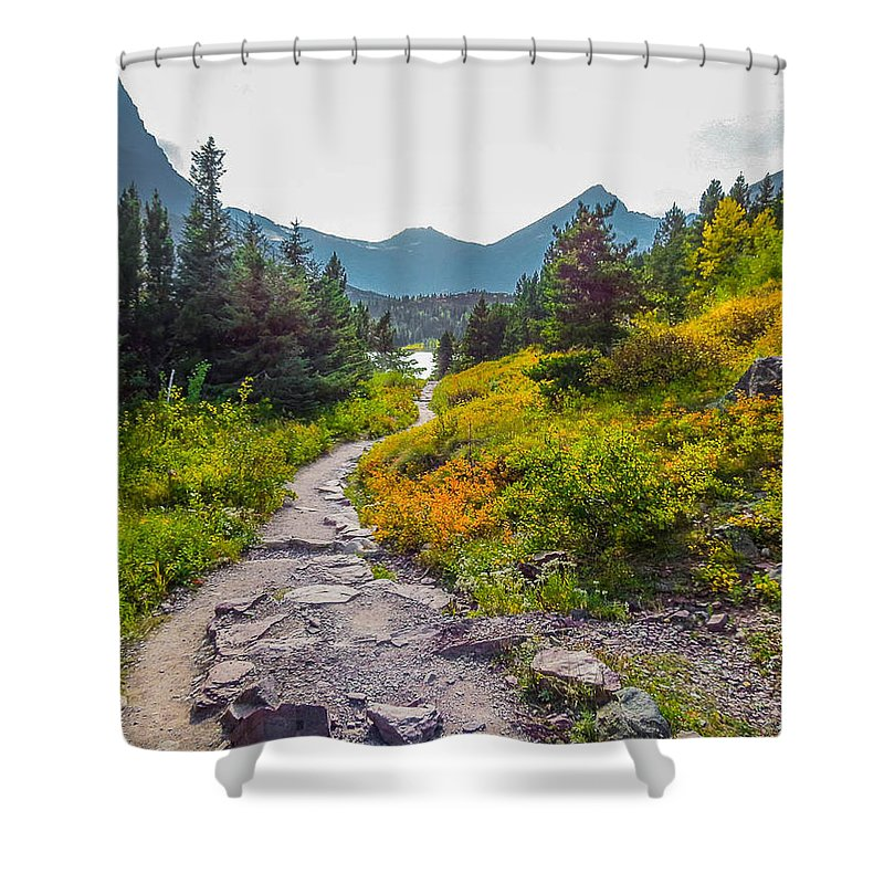 Montana Shower Curtain featuring the photograph Montana Trail by Jessica Fronabarger