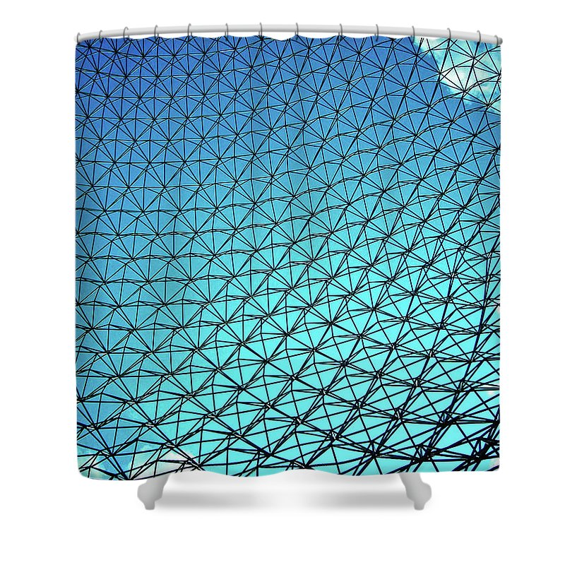 North America Shower Curtain featuring the photograph Montreal Biosphere by Juergen Weiss