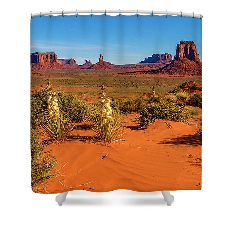Monument Valley Shower Curtain featuring the photograph Monument Valley by Norman Hall