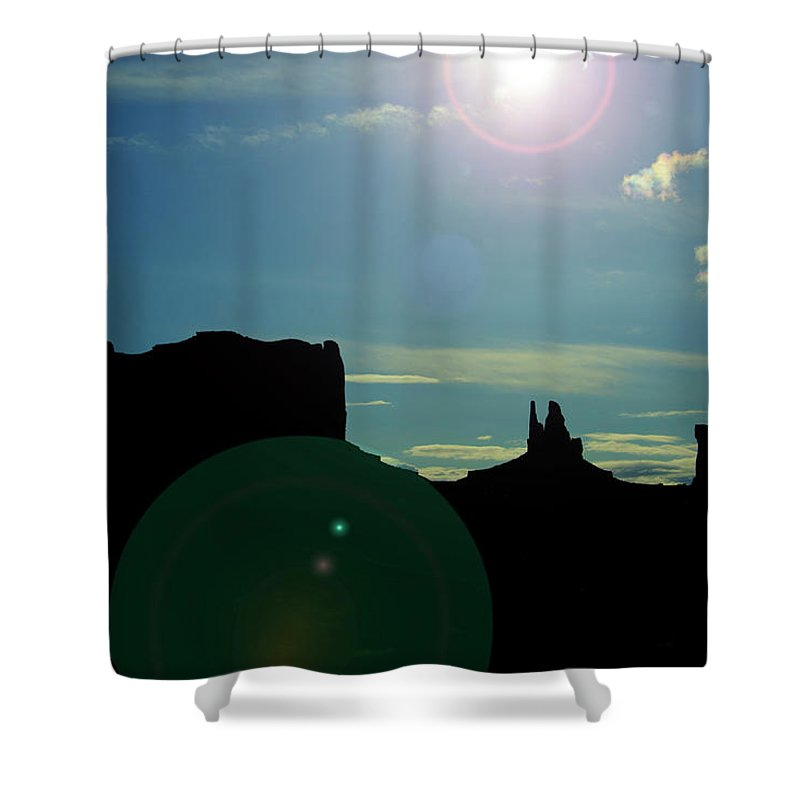 Monument Valley Shower Curtain featuring the photograph Monument Valley silhouette by Roy Nierdieck