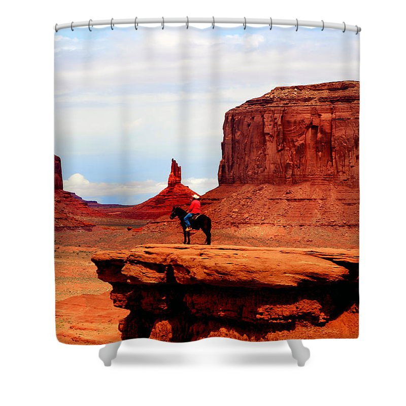 Utah Shower Curtain featuring the photograph Monument Valley by Tom Prendergast