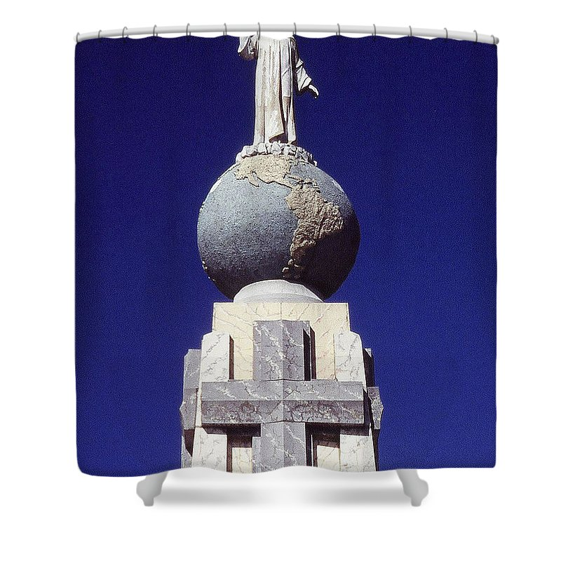 Central America Shower Curtain featuring the photograph Monumento Al Divino Salvador Del Mundo by Juergen Weiss