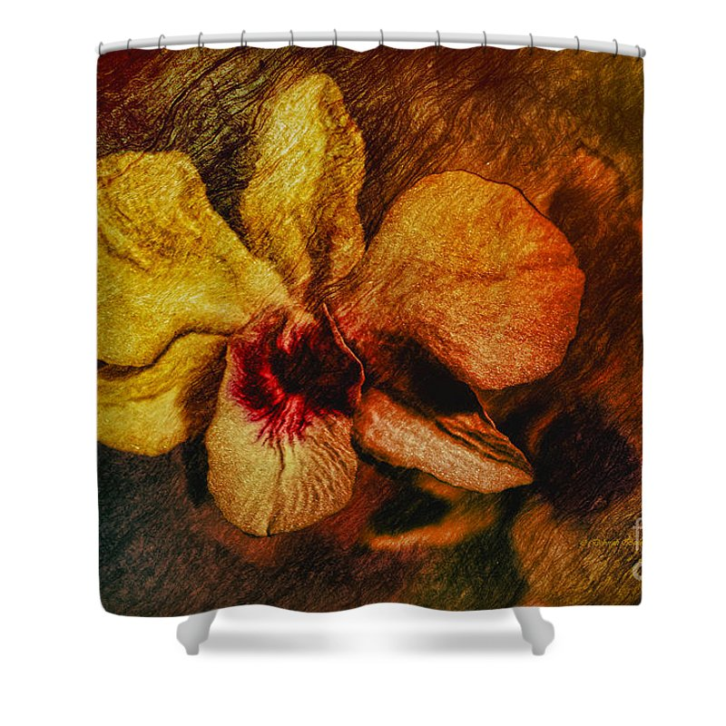 Orchid Shower Curtain featuring the painting Mood Of The Orchid by Deborah Benoit