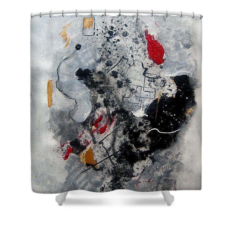 Abstract Shower Curtain featuring the painting Moods II by Ruth Palmer