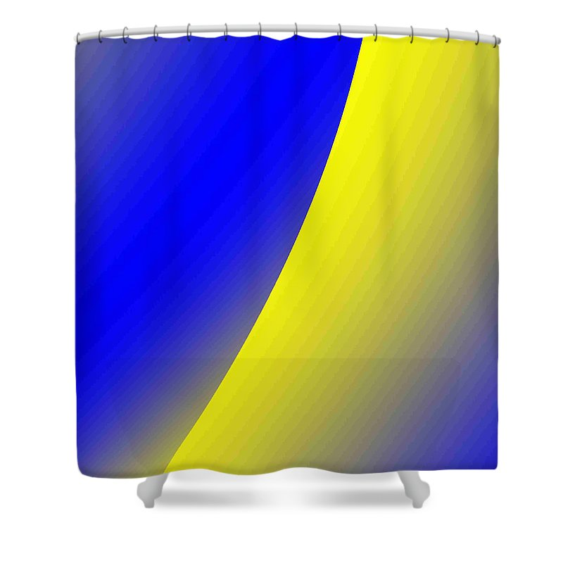 Digital Art Shower Curtain featuring the digital art moon I by Dragica Micki Fortuna