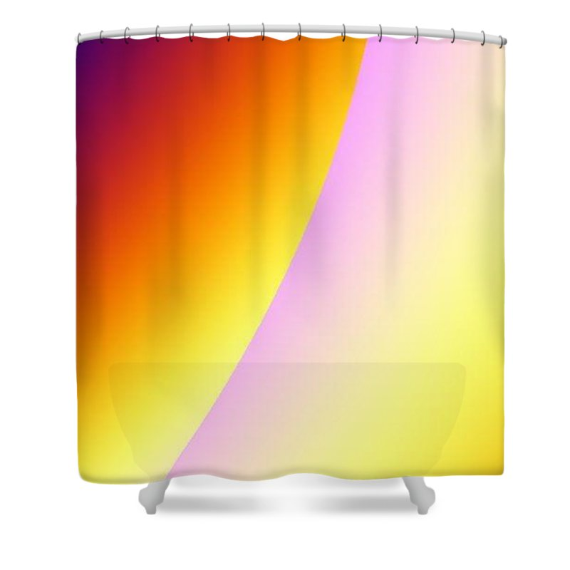 Digital Art Shower Curtain featuring the digital art Moon II by Dragica Micki Fortuna