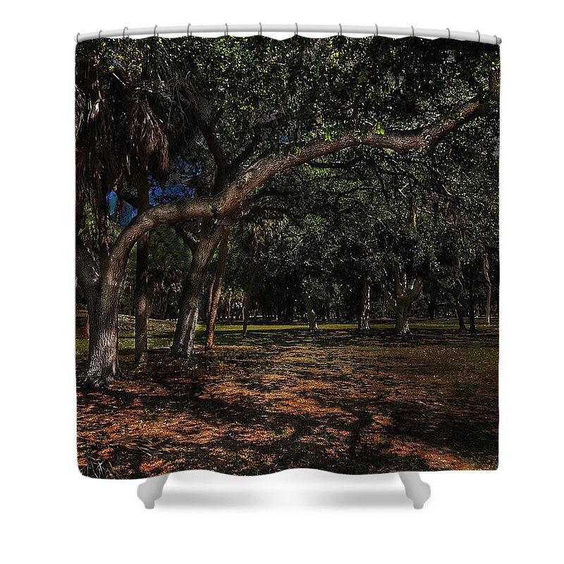 Clam Bayou Shower Curtain featuring the photograph Moon Lite by Joe LeGrand