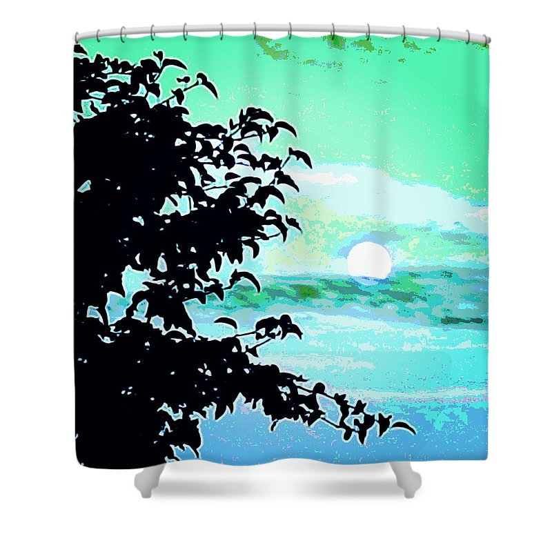 Moon Shower Curtain featuring the photograph Moon Rise by Charlie Dims