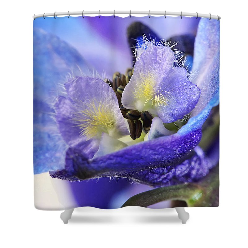 Macro Shower Curtain featuring the photograph Moon Rise by Lauren Radke
