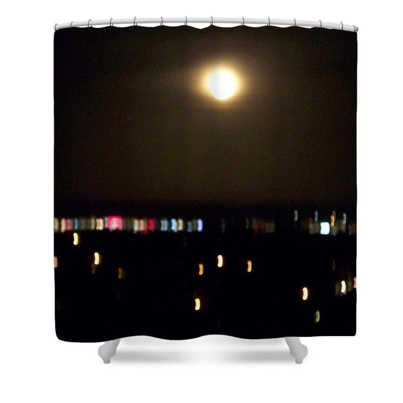 Night Light Shower Curtain featuring the photograph Moonglow by Laurie Paci