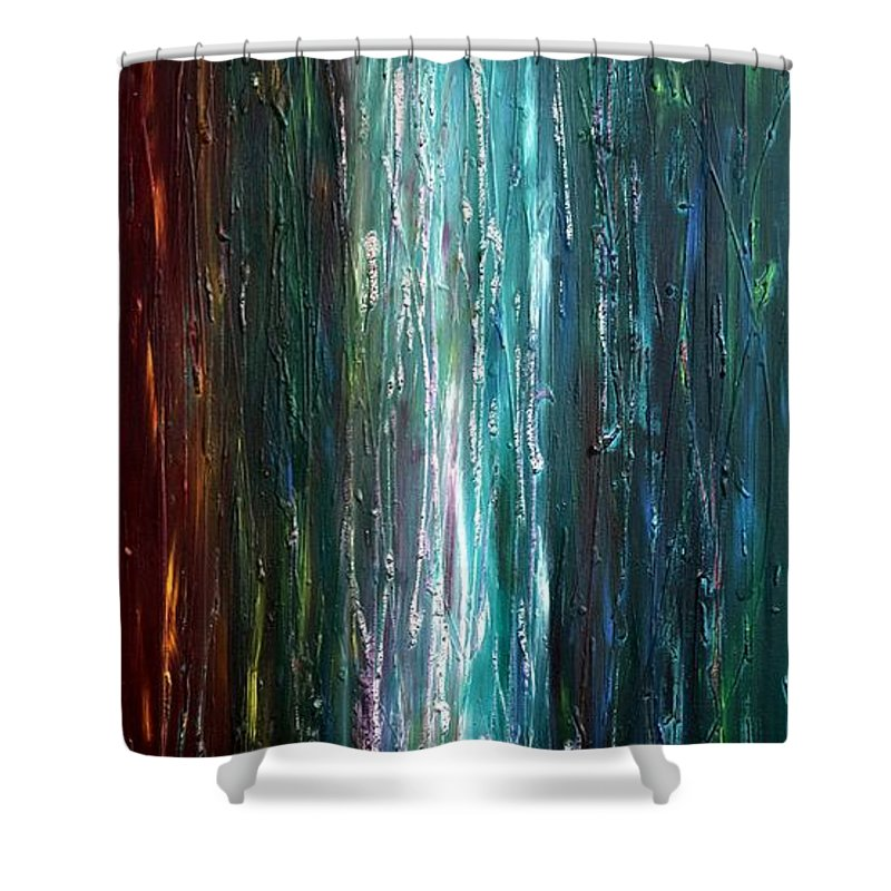 Light Shower Curtain featuring the painting Moonlight Blues by Nina Nabokova